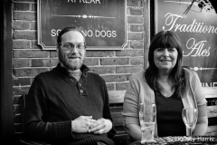 Toni (right), owner of The Bricklayer's Arms, Lower Parkstone.