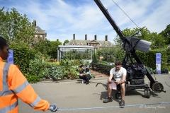 BBC waiting to film at 'The Chris Evans Taste Garden', RHS Chelsea Flower Show 2017.