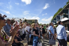 The crowds await the announcement of The Chelsea Flower Show 2017 great plant sell-off