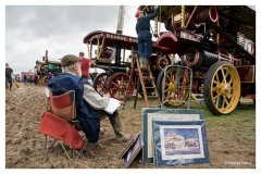 Artist at work - The Great Dorset Steam Fair