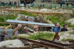 Replica trenches at the WWI Centenary Commemoration display at The Great Dorset Steam Fair.