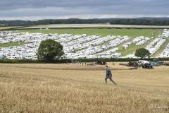 Overlooking the caravans at the Great Dorset Steam Fair 2017.