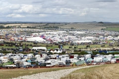 Panorama of the Great Dorset Steam Fair 2017 - view from the hill.