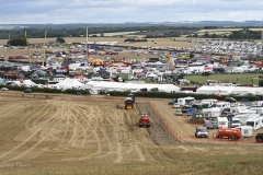 View from the hill overlooking the Great Dorset Steam Fair 2017.