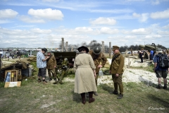 Authentic replica WW1 Western Front trench system at the Great Dorset Steam Fair.
