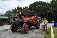 Steam lorry heading for the Great Dorset Steam Fair (aka The National Heritage Show) at Tarrant Hinton, Dorset.