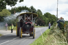 A Showman's engine leaving Drusilla's Inn. En route to the Great Dorset Steam Fair (aka The National Heritage Show)