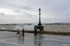 Flooding at Shore Road, Sandbanks, Poole, Dorset.