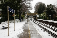 Snow at Parkstone Railway Station, Lower Parkstone, Poole.