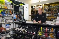 Richard Hilton-Foster of Ride Cycle Shop, Lower Parkstone. Richard Hilton-Foster of Ride Cycle Shop, Lower Parkstone. Photo taken December 2012.