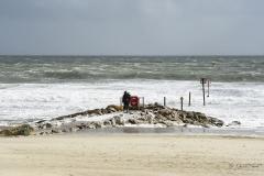 Branksome Chine beach, Poole, Dorset. Storm Brian.