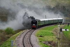 Battle of Britain Class 34081 92 Squadron (guest locomotive)