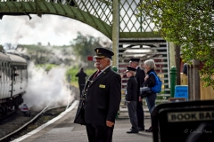 Peter Brice, Station Master, Corfe Castle Railway Station.