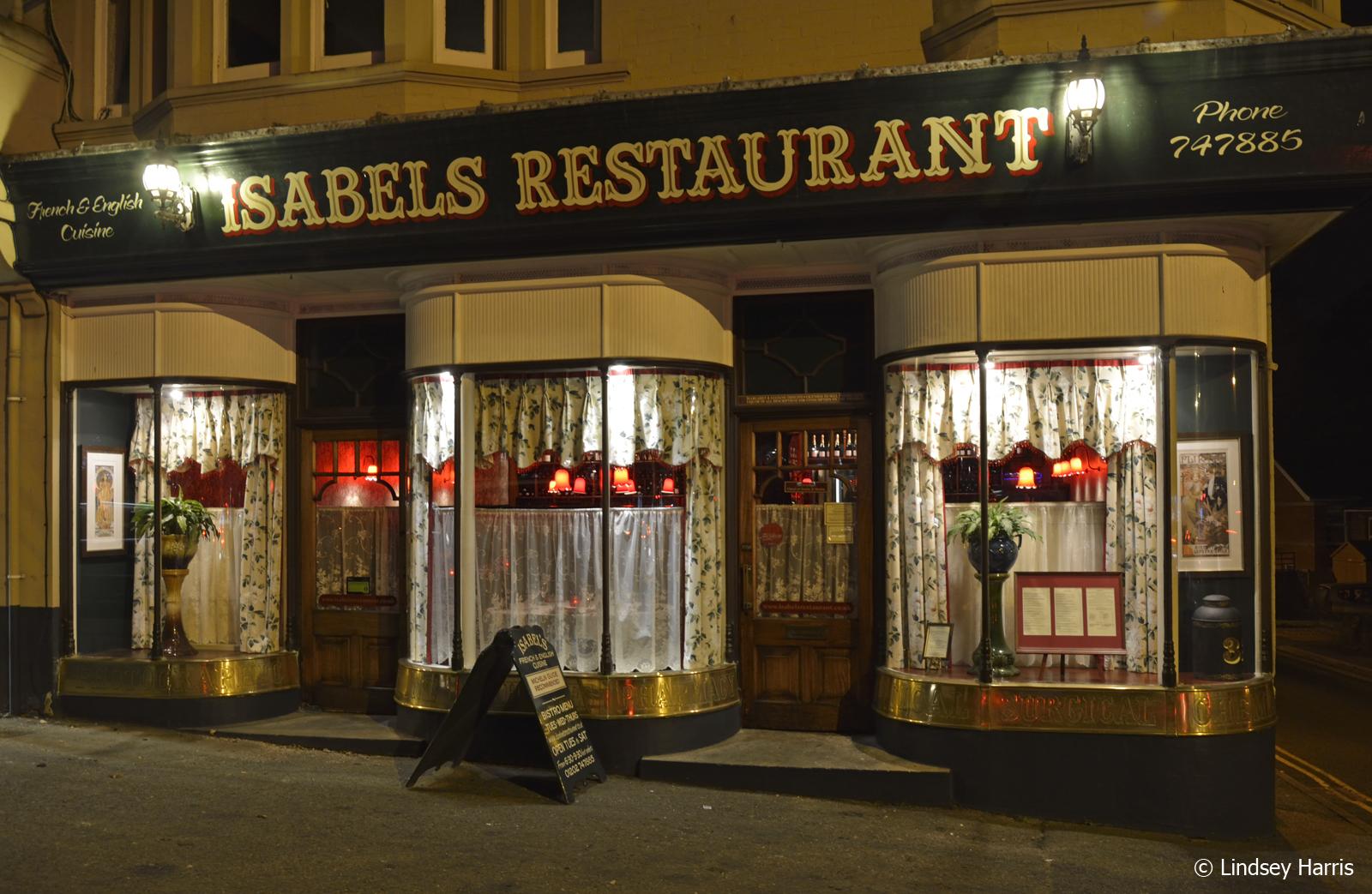 Isabel's Restaurant, Lower Parkstone, Poole, Dorset.