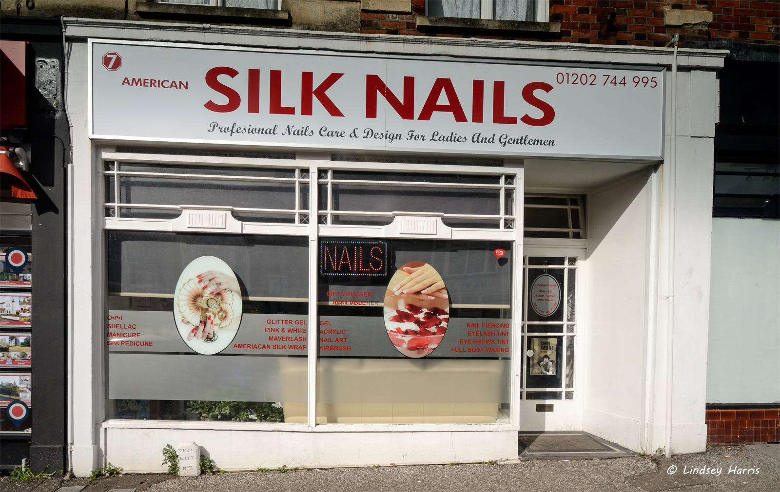 American Silk Nails, Lower Parkstone, Poole, Dorset. February 2015.