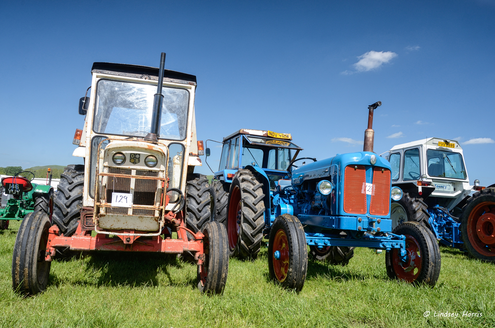 Steam tractors at Three Okefords Preservation Society - Steam Rally 2015