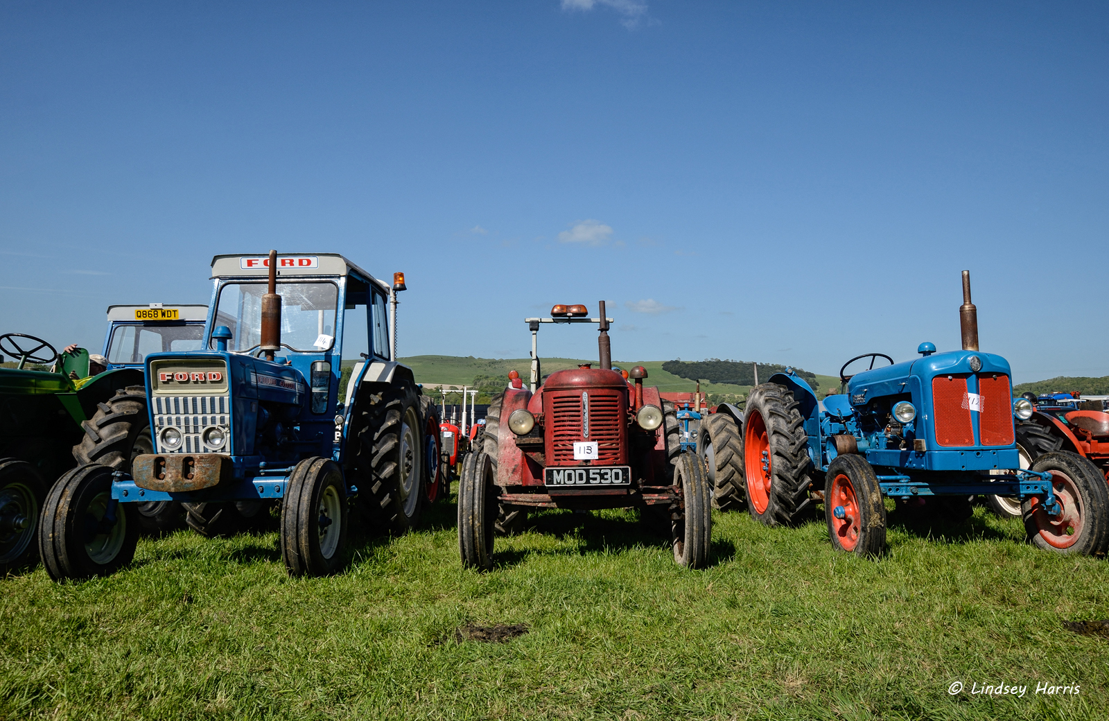 Steam Rally 2015 - steam tractors at Three Okefords Preservation Society, Dorset