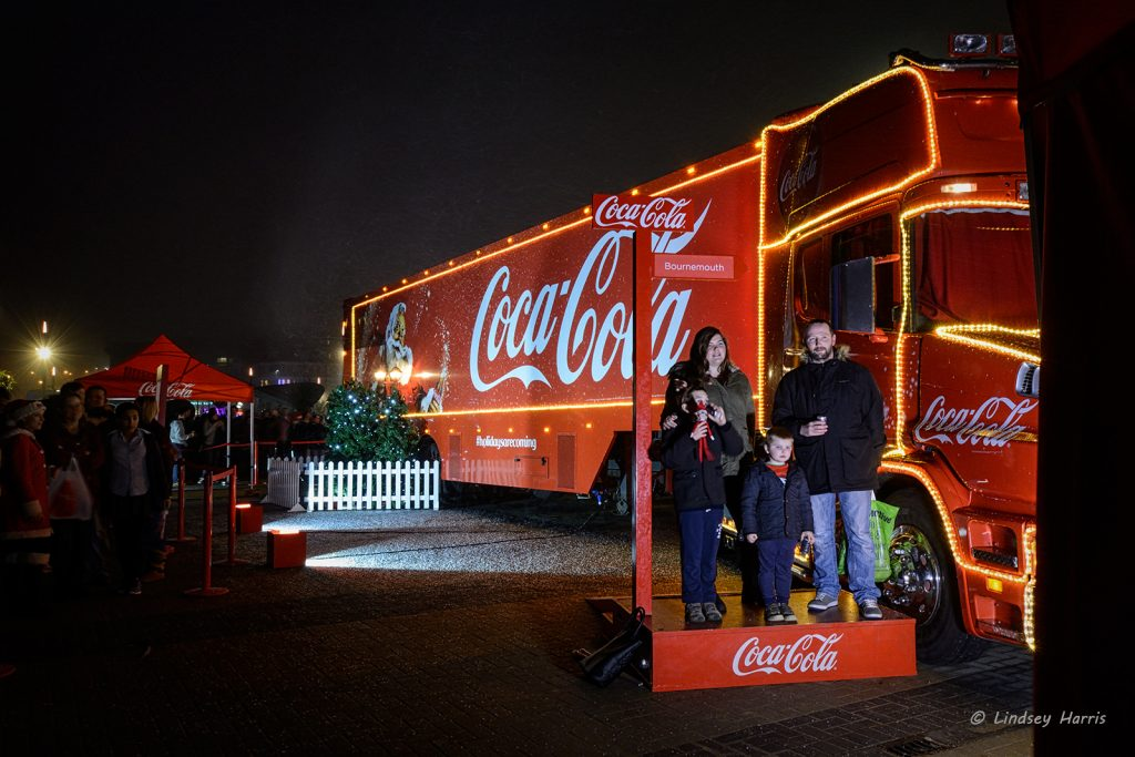Coca-Cola lorry comes to Bournemouth