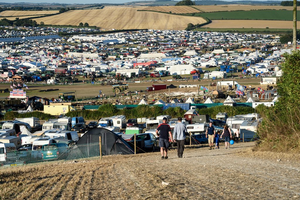 GDSF 2016 - Looking down from the hill overlooking the site.