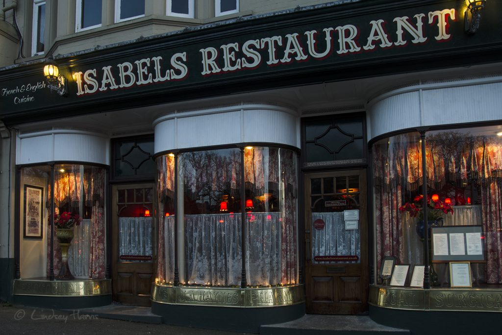 Isabel's Restaurant, Lower Parkstone, Poole, Dorset.