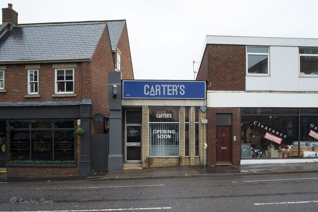 Carter's, Lower Parkstone. Coffee, cakes & confectionery.