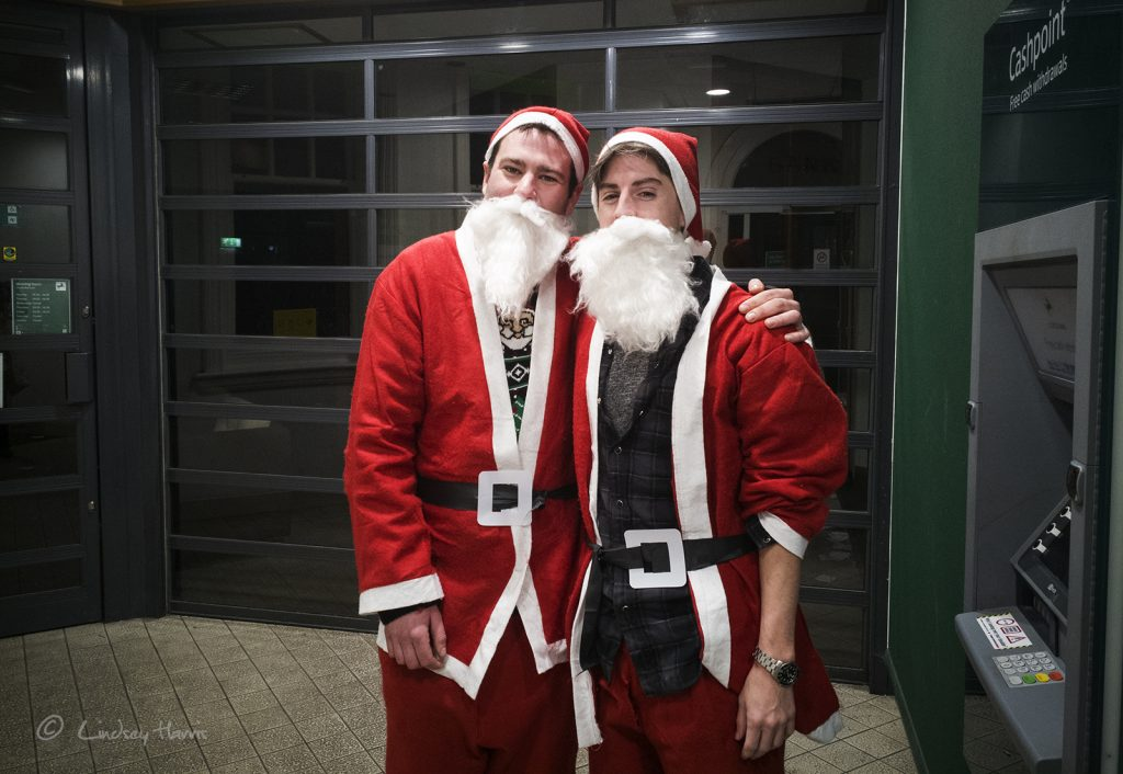 Father Christmas x 2 at Lloyds Bank, Friday 16th December 2017.