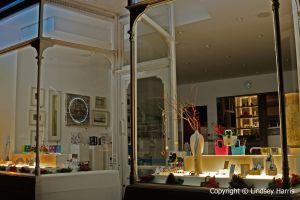 Harris Interiors Gallery at night