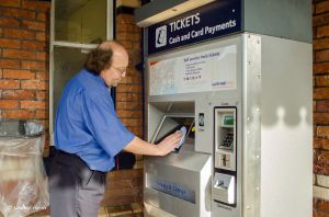 Cleaning the ticket machine