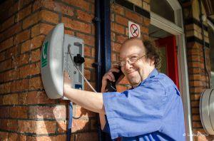 Testing the emergency phone