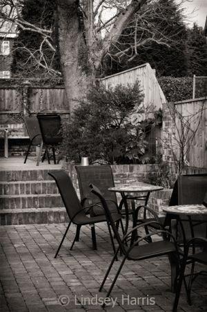 Beer garden.