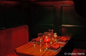 One of the dining booths