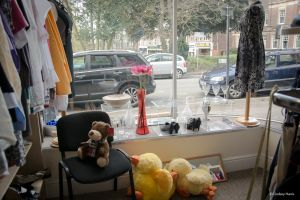 Inside the SSAFA charity shop