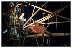 cirkVOST's 'BoO' TrapezeShow - at Poole Park, Poole, Dorset, UK