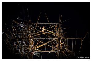 cirkVOST's 'BoO' Trapeze Show - at Poole Park, Poole, Dorset, UK