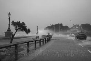 Flooding, Shore Road, Sandbanks, Poole, Dorset