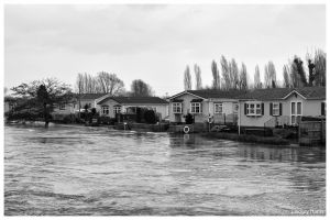 Flooding at Iford Bridge Home Park