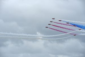 The Red Arrows at Bournemouth Air Show 2016