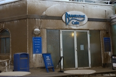 Branksome Beach Cafe 'sandblasted' by 2014 New Year's Day storms.