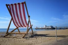 Giant deck chair Bournemouth beach, 2013.