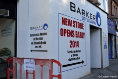 After the 2013 fire. Barker Dry Cleaning and Laundry, Lower Parkstone.