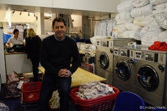 Matt Barker of Barker Dry Cleaning and Laundry, Lower Parkstone.