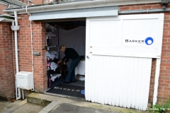 After the 2013 fire. Barker Dry Cleaning and Laundry, Lower Parkstone. Trading from a garage at the back of the shop.
