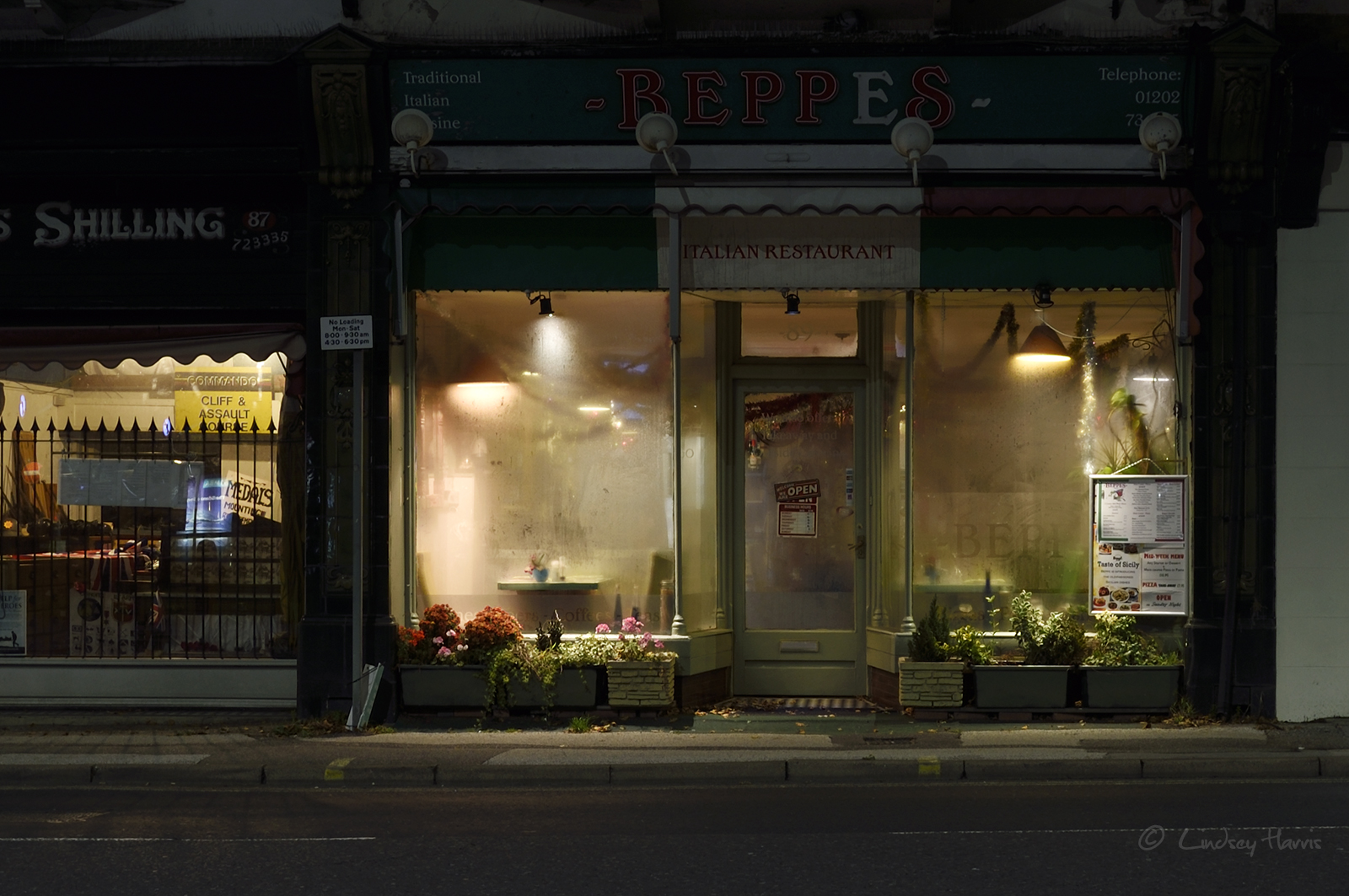 Beppe's Italian Restaurant, Lower Parkstone. Photo taken November 2017.