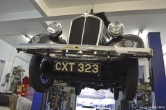 Black & White Cars, Lower Parkstone. In the workshop, 2013.