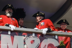Chelsea Pensioners at the RHS Chelsea Flower Show 2017.