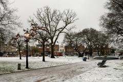 Snow at Parkstone Park, Ashley Cross. 18th January 2013.