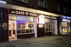 Gate of India, Indian restaurant and takeaway, Lower Parkstone. Photo taken November 2017.