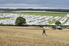 Caravans at the 2017 Great Dorset Steam Fair - view from 'Michael Oliver Hill'.