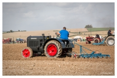Steam tractor ploughing at The Great Dorset Steam Fair.
