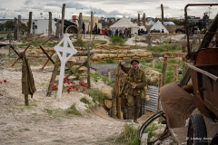 WWI Centenary Commemoration display at The Great Dorset Steam Fair, 2015.